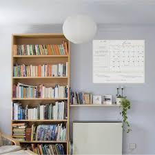 Dry Erase 1 Month Calendar Decal Writable Wall Calendars Touch