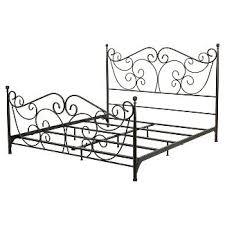 white metal frame bed target