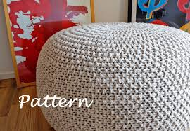 knitting pattern knitted pouf pattern poof knitting ottoman