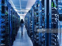 wallpaper computer room woman walking in server room stock photo getty images