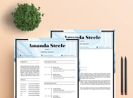 Adobe Indesign Resume Templates Water Color Resume Template Cv Template Letterhead N By