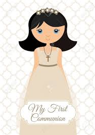 my communion my communion girl royalty free cliparts vectors and stock