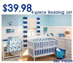 Walmart Crib Bedding Sets Walmart 39 98 Nojo Splish Splash 4 Crib Bedding Set 60