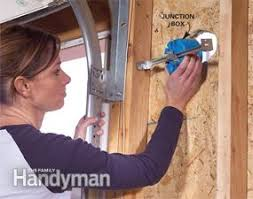 install outdoor garage lights installing a remote motion detector for lighting electrical wiring