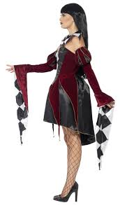gothic halloween costumes venetian harlequin halloween costume women u0027s gothic jester costume