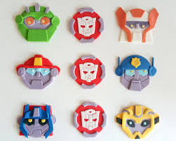 transformer rescue bots party supplies bot transformers birthday party fondant cupcake toppers