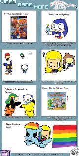 Video Game Meme - video game meme by savannia on deviantart