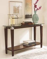Table Behind Sofa by Inspirational Metal Sofa Table With Glass Top 61 For Your