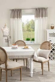 rideaux store cuisine design interieur rideaux cuisine gris blanc motifs fins nappe