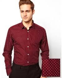 burgundy polka dot dress shirts for men men u0027s fashion