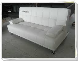 Faux Leather Sofa Sleeper White Faux Leather Sofa Visionexchange Co