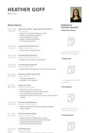 Sample Resume For Gym Instructor by Publications Resume Samples Visualcv Resume Samples Database