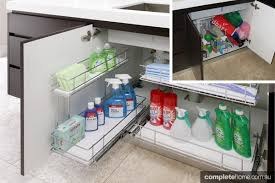 under kitchen sink storage solutions a storage solution for under your sink clean organize