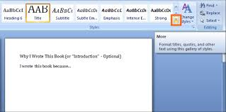 membuat novel di ms word how to format your book for amazon kindle using microsoft word in