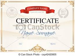 vector clipart of certificate of completion template certificate