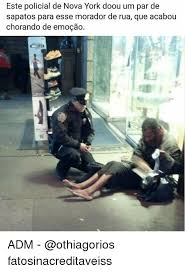 Sapatos Pa Meme - este policial de nova york doou um par de sapatos para esse