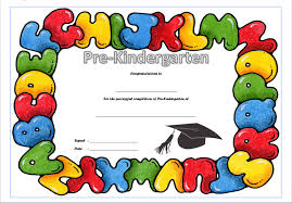 preschool graduation certificate pre kindergarten diploma certificate 9 the best template collection