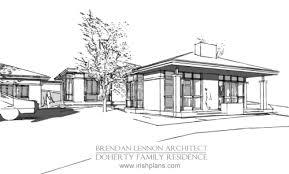 Modern House Plans Designs by West Of Ireland Rural Lakeside Split Level Modern House Design