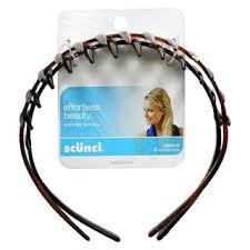 scunci headband free scunci hair barrettes tiger tooth headbands set of 2