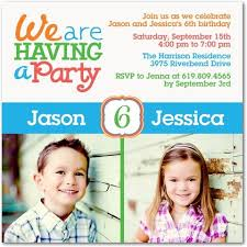 first birthday party invitation wording for twins wedding