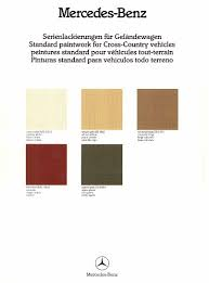 original g colors paint codes year specific data club g wagen