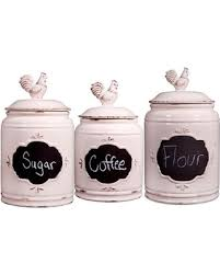where to buy kitchen canisters amazing deal on home essentials set of 3 chalkboard kitchen
