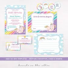baby shower kits baby shower invitation kits print and personalize at home