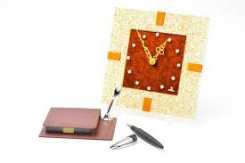 madeheart u003e beautiful handmade fused glass clock wall clock design