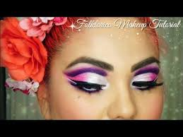 folklorico earrings folkló makeup tutorial pink purple