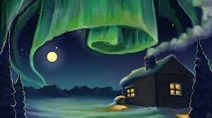 the cabin under the northern lights wictorian art