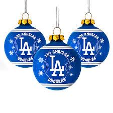 los angeles dodgers glass ornaments bleeding blue