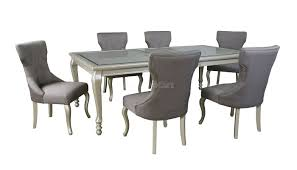 chair montibello dining table 6 chairs 43024 120 dining table set