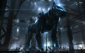 giant dog robot wallpaper 1280x800 1366x768 mechs u0026 sci fi