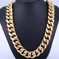 gold plated curb necklace images Lastest design 28 quot men 39 s heavy 20mm thick 316l stainless steel 18k jpg