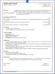Sample Resume For Computer Science by Sample Resume Format For Bsc Computer Science Freshers Mca