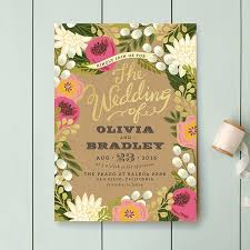 floral wedding invitations brides