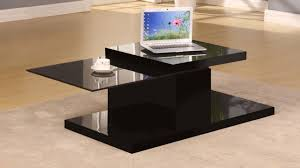black and glass coffee table rotating black high gloss glass coffee table homegenies