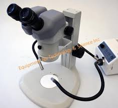 microscope fiber optic light source nikon smz645 stereozoom with fiber optic light source for sale