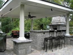 Covered Backyard Patio Ideas Backyard Stone Patio Designs Tremron Bluestone Paver Patio Patio