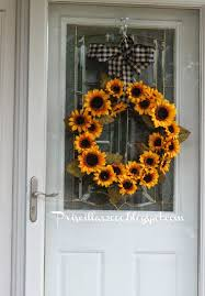 burlap sunflower wreath priscillas diy sunflower wreath