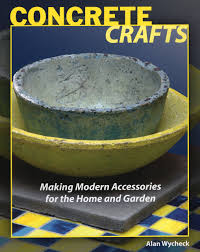 concrete crafts making modern accessories for the home and garden