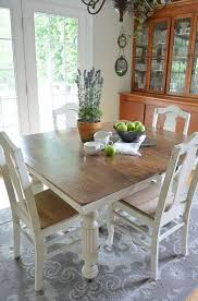 Chalk Paint Grandmas Antique Dining Table And Chairs Antique - Painting a dining room table
