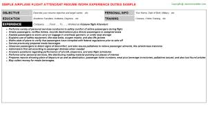 Sample Resume For Flight Attendant by Service Station Attendant Resume