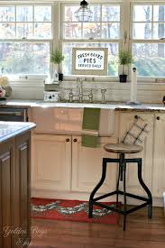Farmhouse Style Bar Stools Golden Boys And Me Cozy Farmhouse Style In Our Kitchen