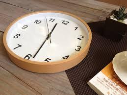 Silent Wall Clock Muji Muji 12 Beech Solid Wood Box Digital Wall Clock White Silent