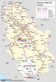 L Train Map Serbian Railways Wikipedia