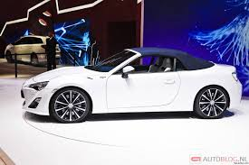 convertible toyota toyota ft 86 convertible concept with roof up revealed