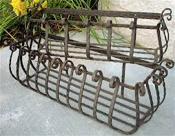 Metal Window Boxes For Plants - set of 2 wrought iron large castilian window planters 36