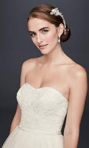 davids bridal hairstyles 4 wedding dress trends to love with david s bridal wedding
