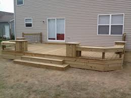 Wood Patio Deck Designs I Like The Planter Boxes Going Along Side The Stairs